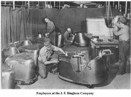 Employees at the J.F. Bingham Company